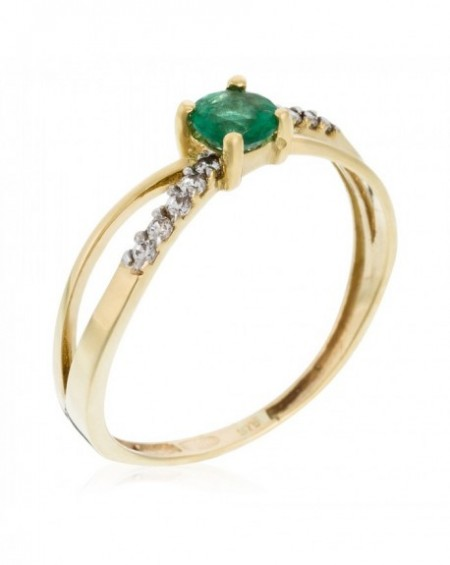 "Bague ""So Green"" Or Jaune 375/1000"