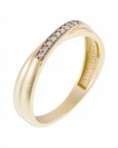 """Bague """"Lovely Union"""" Or Jaune 375/1000"""
