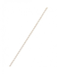 """Bracelet """"Maillons"""" Bicolore 375/1000"""