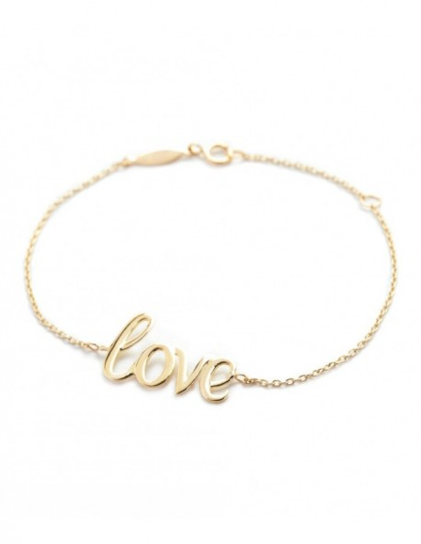 Bracelet bracelet Love Or Jaune 375/1000