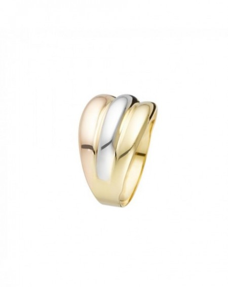 Bague Trianon Or Tricolor 375/1000