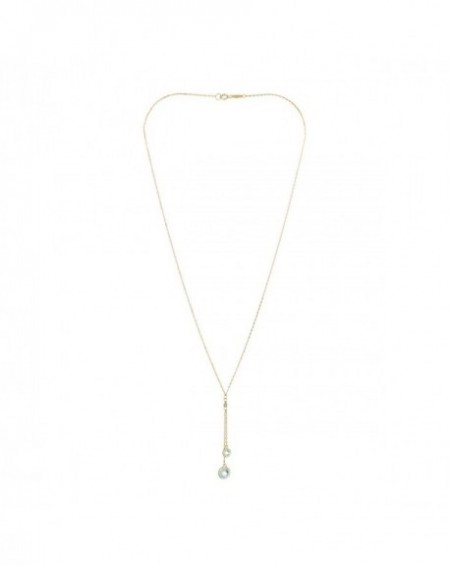 Collier Duo De Topaze Or Jaune 375/1000
