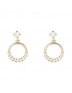 Boucles d'oreilles Noeud Or Tricolore 375/1000