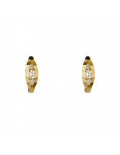 Pendentif Puce Saphir Bleu Or Jaune 375/1000