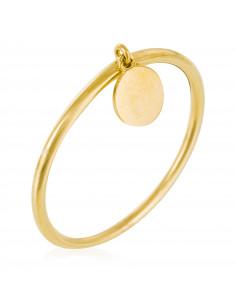 Boucle D'Oreilles blue Daisy Or Jaune 375/1000 Zirconium