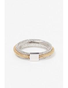 Boucle D'Oreilles bulles De Crystal Or Jaune 375/1000 Zirconium