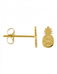 Boucles d'oreilles Ananas Or jaune 375/1000