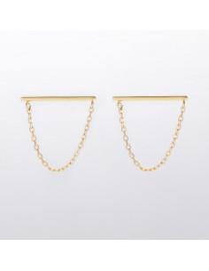 """Boucles d'oreilles """"Créoles tri or"""" Or Tricolore 375/1000"""
