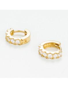 bracelet maille Tsar - or jaune avec central lapidé blanc