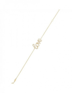 Bracelet bracelet Love Is In The Air Or Jaune 375/1000 Zirconium