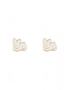 Collier diadème Or Blanc 375/1000 Zirconium